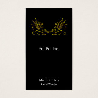Two Golden Griffons Business Card