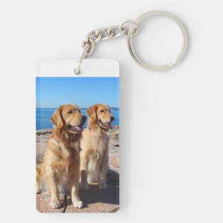 Two Goldens Keychain