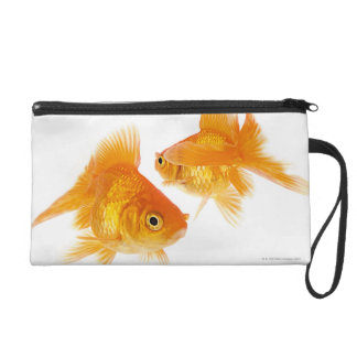 Two Goldfish Crossing Each Other Wristlet Clutch