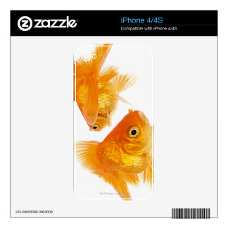 Two Goldfish Crossing Each Other Decals For The iPhone 4S