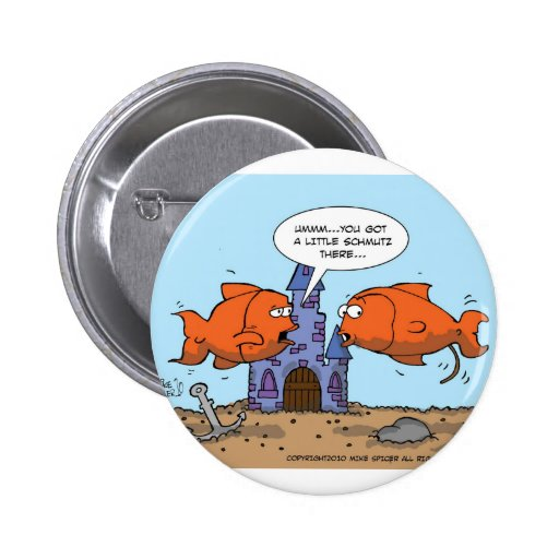 Two Goldfish--Friendship Pinback Buttons