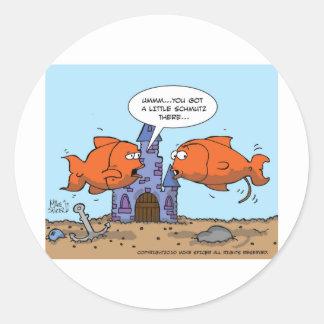 Two Goldfish--Friendship Classic Round Sticker