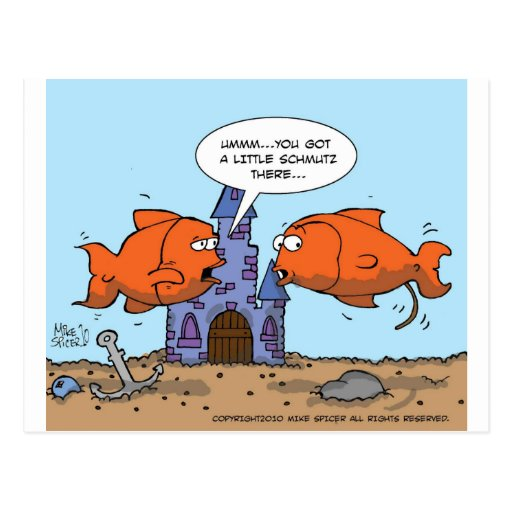 Two Goldfish--Friendship Post Card
