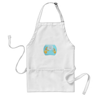 Two Goldfish In A Tank Adult Apron