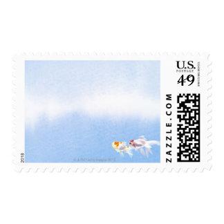 Two Goldfish Postage Stamp