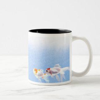 Two Goldfish Two-Tone Coffee Mug
