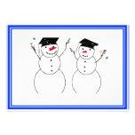 Two Graduating Snowmen Announcement