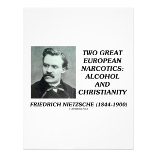 Two Great European Narcotics Alcohol Christianity Letterhead
