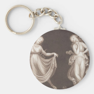 Two Grecian Women Dancing Keychain