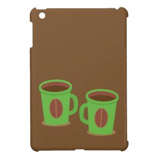 Two green coffees mugs iPad mini case