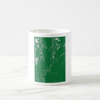 Two Green Ladies Mugs