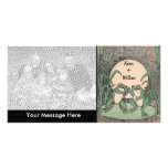 Two Green Love Frogs Photo Greeting Card