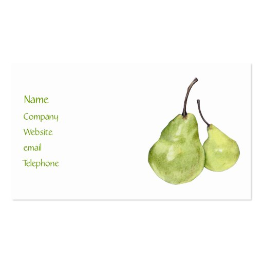Two Green Pears Profile Card Business Card Template