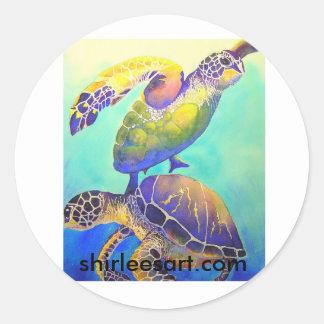 Two Green Sea Turtles Sticker
