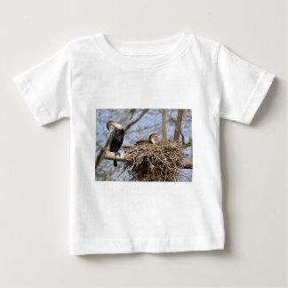 Two gret Cormorants in nest Baby T-Shirt