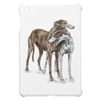 Two Greyhound Friends Dog Art Case For The iPad Mini