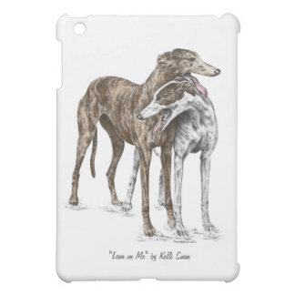 Two Greyhound Friends Dog Art Cover For The iPad Mini