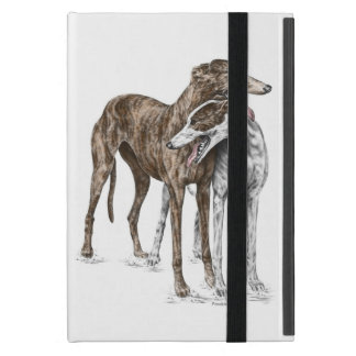 Two Greyhound Friends Dog Art Covers For iPad Mini
