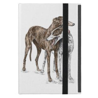 Two Greyhound Friends Dog Art iPad Mini Cover