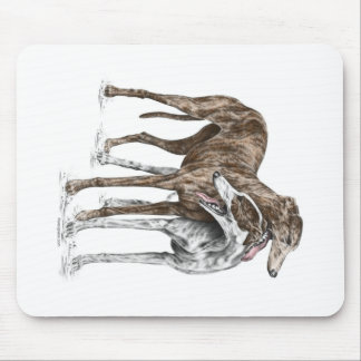 Two Greyhound Friends Dog Art Mouse Pad