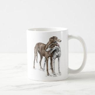 Two Greyhound Friends Dog Art Mugs