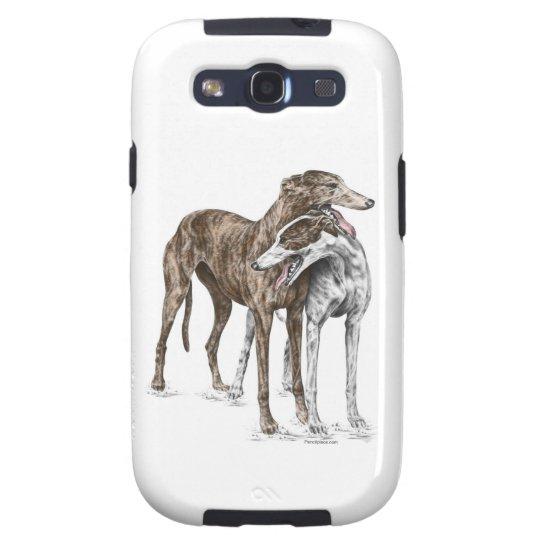 Two Greyhound Friends Dog Art Samsung Galaxy SIII Cover