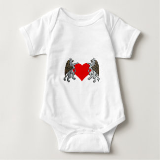Two Griffins And A Heart Baby Bodysuit