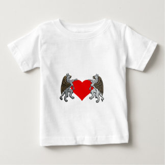 Two Griffins And A Heart Baby T-Shirt