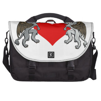 Two Griffins And A Heart Laptop Bag