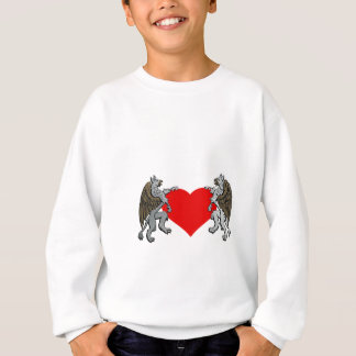 Two Griffins And A Heart Sweatshirt