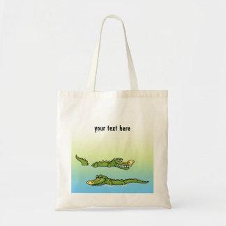 Two Grinning Alligators Tote Bag