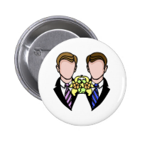 Two Grooms 2 Inch Round Button