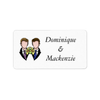 Two Grooms Address Label