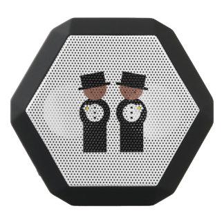 Two grooms black bluetooth speaker
