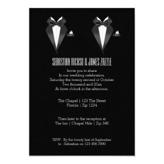 Two Grooms Bow Tie Tuxedo Wedding Card