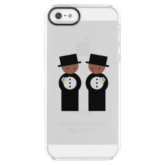 Two grooms clear iPhone SE/5/5s case