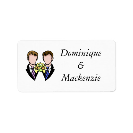 Two Grooms Custom Address Labels