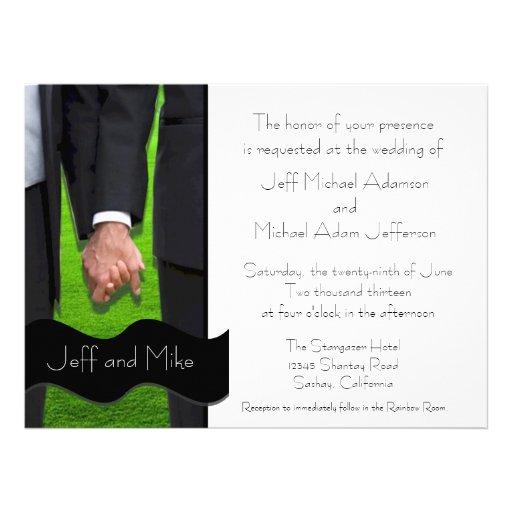 Personalized Commitment Ceremony Invites Invitations