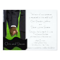 Two Grooms Custom Gay Wedding Invite (Bi-Racial)