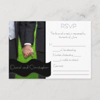 Two Grooms Custom Gay Wedding RSVP Cards