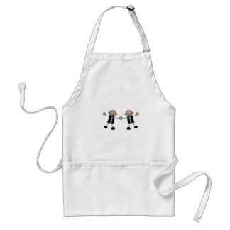 Two Grooms Dancing Happy Adult Apron