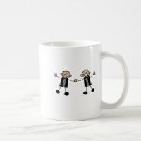 Two Grooms Dancing Happy Classic White Coffee Mug