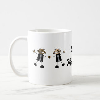 Two Grooms Dancing Happy Interracial Coffee Mug