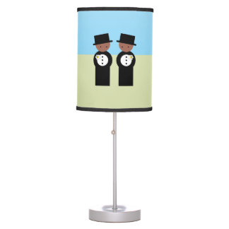 Two grooms desk lamp