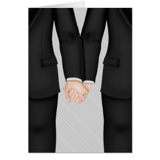 Two Grooms Gay Wedding Congrats Greeting Cards
