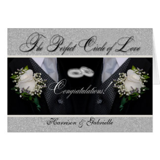 Two Grooms   Gay Wedding or Civil Union   Tuxes Card