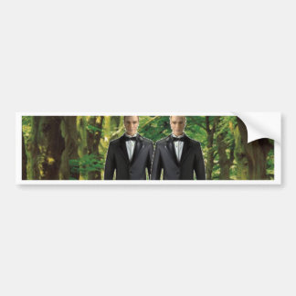 Two Grooms in the Forest Bumper Sticker