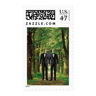 Two Grooms in the Forest Postage