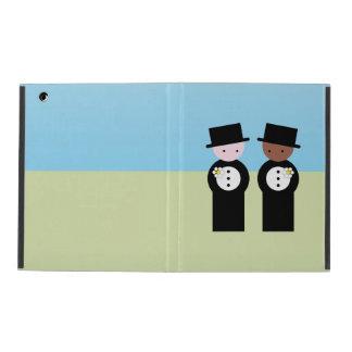 Two grooms iPad folio case
