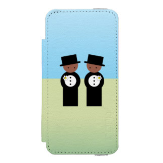 Two grooms iPhone SE/5/5s wallet case